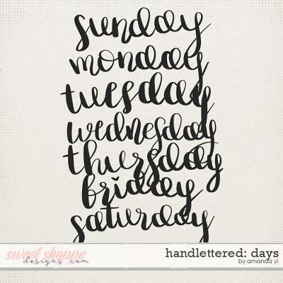 Handlettered: Days by Amanda Yi