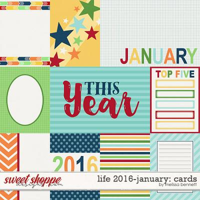Life 2016-January: Cards by Melissa Bennett