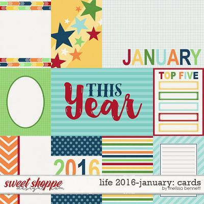 Life 2016-January: Cards by Melissa Bennett
