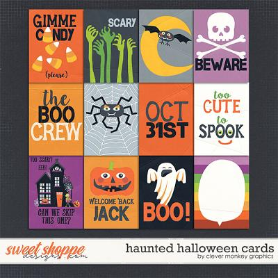 Haunted Halloween Cards by Clever Monkey Graphics