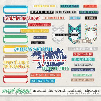 Around the world: Iceland - stickers by Amanda Yi & WendyP Designs