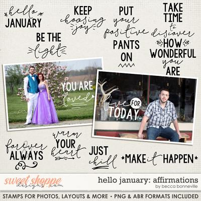 Hello January: Affirmations by Becca Bonneville