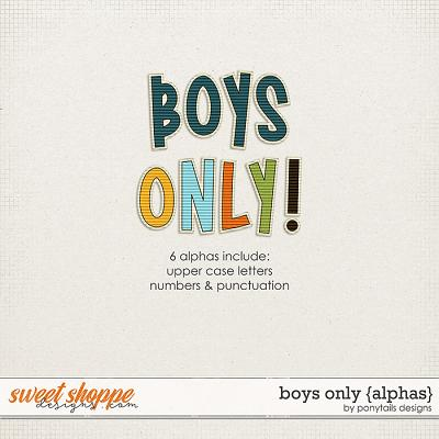 Boys Only Alphas by Ponytails