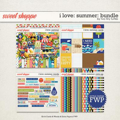 I Love: Summer Bundle by Two Tiny Turtles