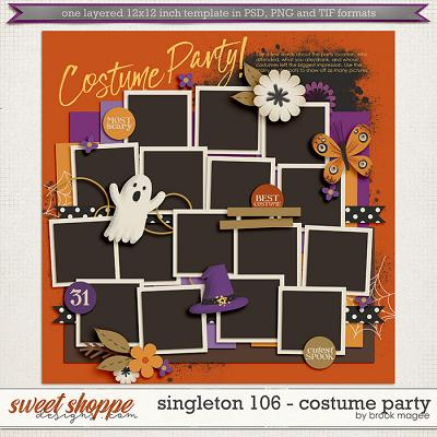 Brook's Templates - Singleton 106 - Costume Party by Brook Magee