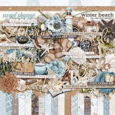 Winter beach by WendyP Designs