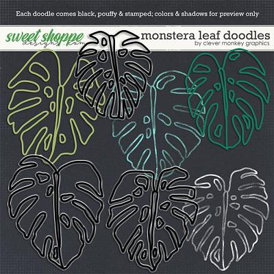 Monstera Doodles by Clever Monkey Graphics