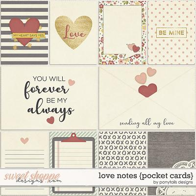Love Notes Pocket Cards by Ponytails