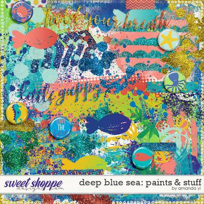 Deep Blue Sea : Paints & Stuff by Amanda Yi