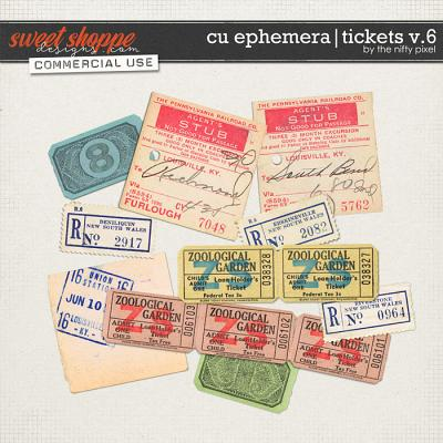 CU EPHEMERA | TICKETS V.6 by The Nifty Pixel