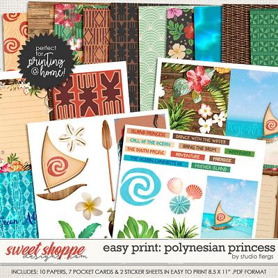 Remember the Magic: POLYNESIAN PRINCESS- EZ PRINT by Studio Flergs