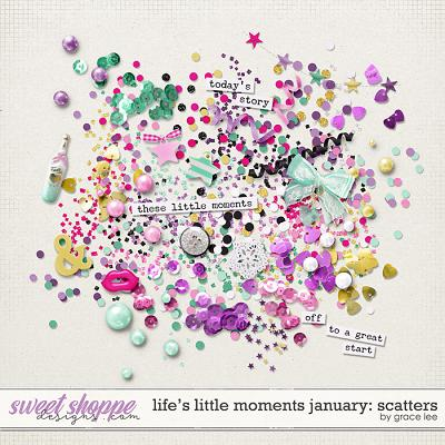 Life's Little Moments January Scatters by Grace Lee