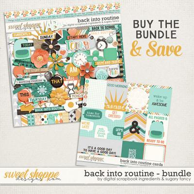 Back Into Routine Bundle by Sugary Fancy & Digital Scrapbook Ingredients