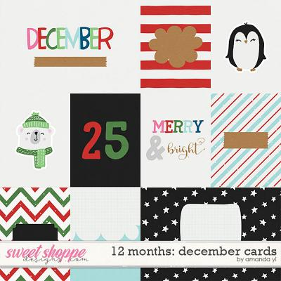12 Months: December Cards by Amanda Yi