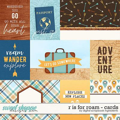 R is for Roam | Cards by Digital Scrapbook Ingredients