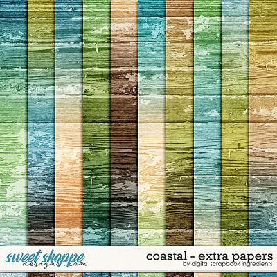 Coastal | Extra Papers by Digital Scrapbook Ingredients