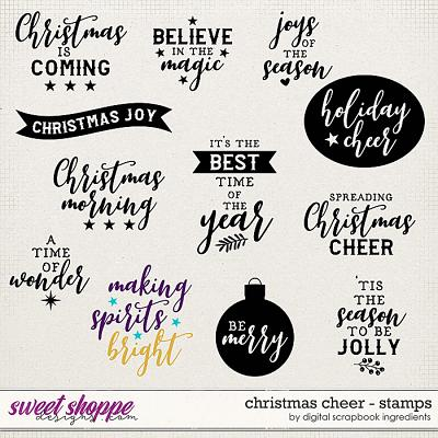 Christmas Cheer | Stamps by Digital Scrapbook Ingredients