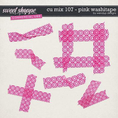 CU Mix 107 - Pink washitape by WendyP Designs