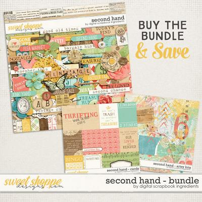 Second Hand Bundle by Digital Scrapbook Ingredients