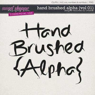 Hand Brushed Alpha {Vol 01} by Christine Mortimer