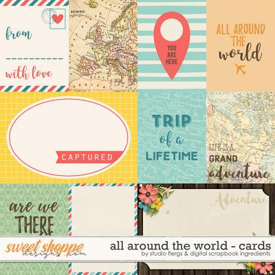 All Around the World: CARDS by Studio Flergs & Digital Scrapbook Ingredients