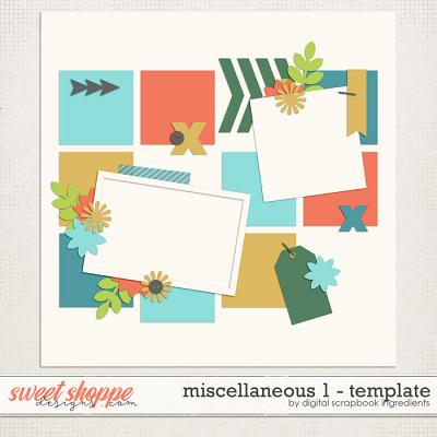 Miscellaneous 1 Template by Digital Scrapbook Ingredients