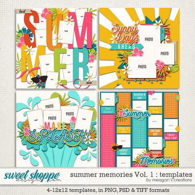 Summer Memories Vol. 1 Templates by Meagan's Creations