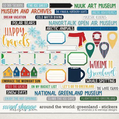 Around the world: Greenland - Stickers by Amanda Yi & WendyP Designs