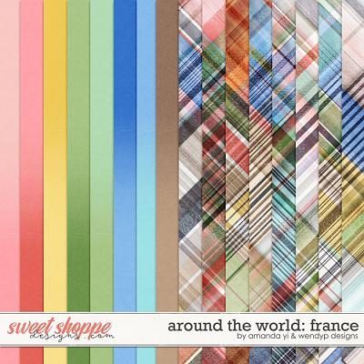Around the world: France - Bonus Papers by Amanda Yi & WendyP Designs