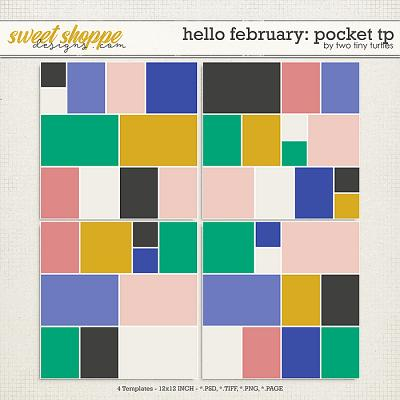 Hello February: Pocket Templates by Two Tiny Turtles