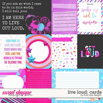 Live Loud: Cards by River Rose Designs