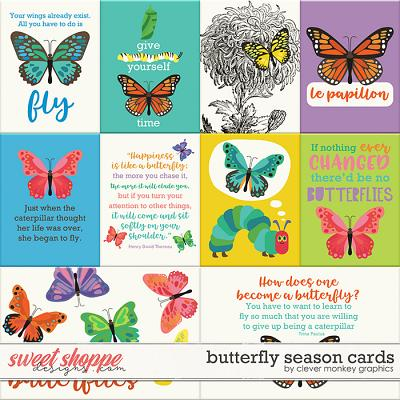 Butterfly Season Cards by Clever Monkey Graphics