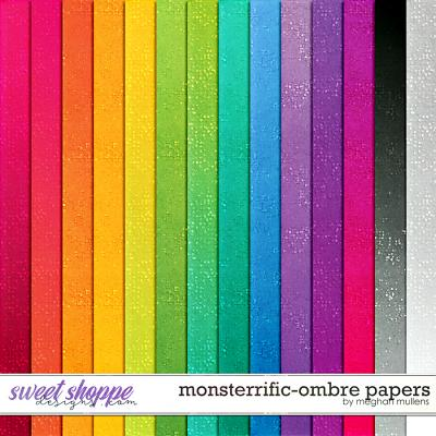 Monsterrific-Ombre Paper Pack by Meghan Mullens