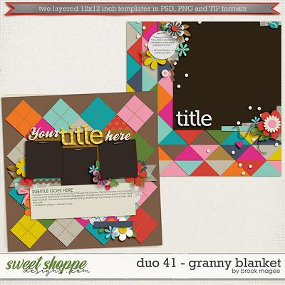 Brook's Templates - Duo 41 - Granny Blanket by Brook Magee