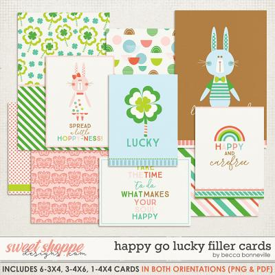 Happy Go Lucky Filler Cards by Becca Bonneville