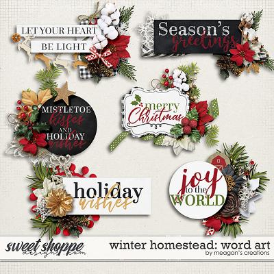 Winter Homestead: Word Art by Meagan's Creations