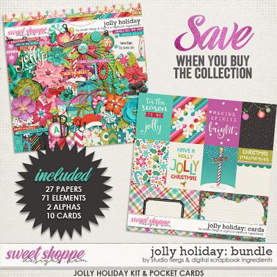 Jolly Holiday Bundle by Studio Flergs & Digital Scrapbook Ingredients