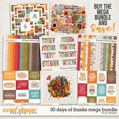 30 Days of Thanks Mega Bundle by LJS Designs