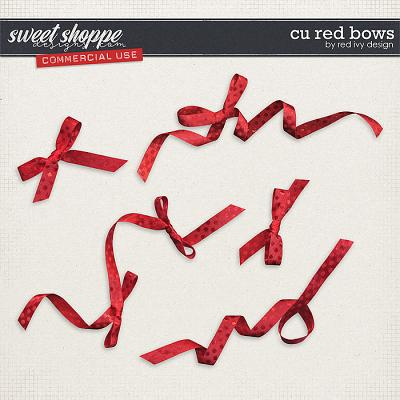 CU Red Bows by Red Ivy Design