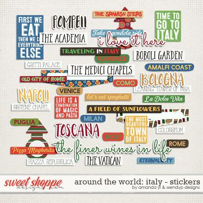 Around the world: Italy - stickers by Amanda Yi and WendyP Designs