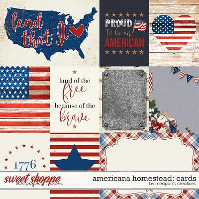 Americana Homestead: Cards by Meagan's Creations