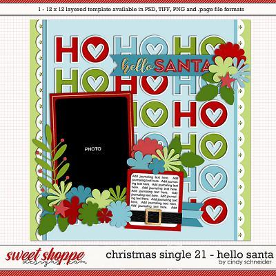 Cindy's Layered Templates - Christmas Single 21: HO HO HO by Cindy Schneider