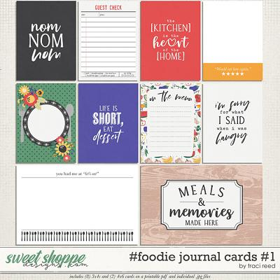 #foodie Journal Cards #1 by Traci Reed