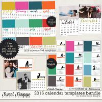 2016 Calendar Templates Bundle by Studio Basic