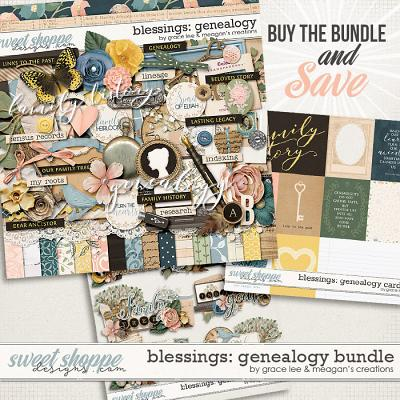 Blessings: Genealogy Bundle by Grace Lee and Meagan's Creations