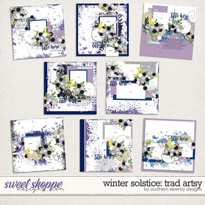 Winter Solstice: Trad Artsy Layered Templates by Southern Serenity Designs