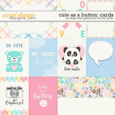 Cute As A Button :: Cards by Blagovesta Gosheva & Two Tiny Turtles
