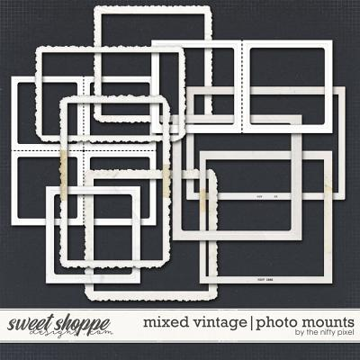 MIXED VINTAGE | PHOTO MOUNTS by The Nifty Pixel