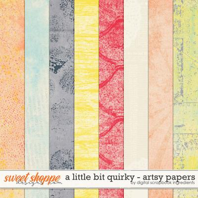 A Little Bit Quirky | Artsy Papers by Digital Scrapbook Ingredients