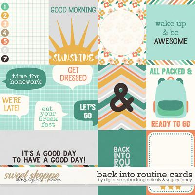 Back Into Routine | Journal Cards by Sugary Fancy & Digital Scrapbook Ingredients